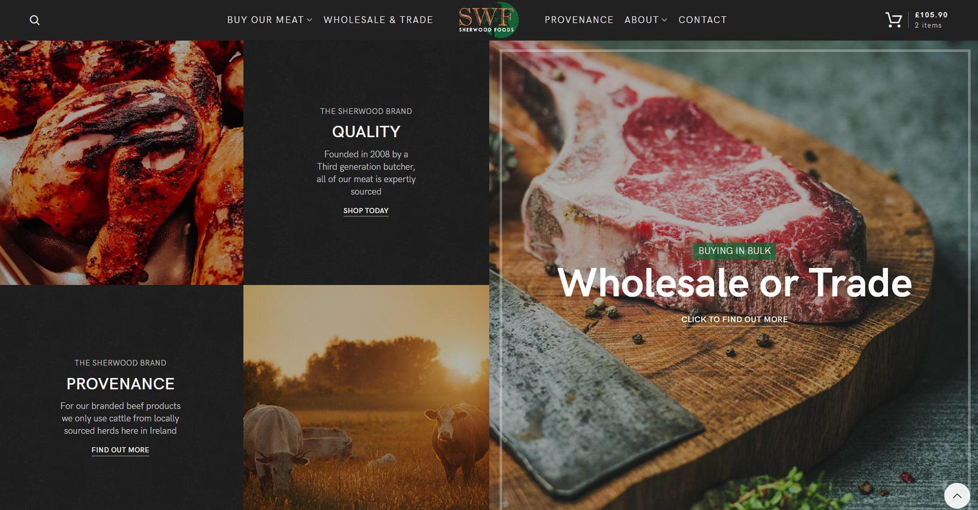 Sherwood Foods   Designed by HOWiE